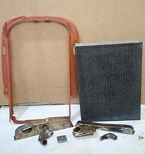1936 Chevrolet radiator, New core with parts prepped and ready for assembly.